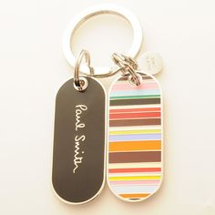 Paul Smith Accessories Multistripe Tag Keyring