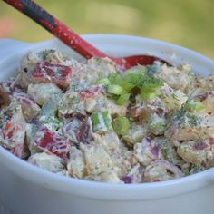 Skinny Grilled Chicken and Potato Salad all in one dish!