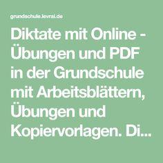 Deutsch Diktate zum üben kostenlos, Diktate 4. Klasse, Diktat ...