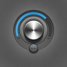 #realistic #dial #knob #volume #audio control