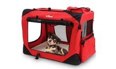 Transportin de  Mascotas desde 34,90,-€ Descuento en todos los tamaños!! Ideas, Dog Beds, Pet Carriers, Steel Frame, Red Green, Big Doors, Lambskin Leather, Thoughts