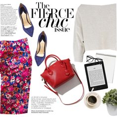 The fierce chic by punnky on Polyvore featuring Paul Andrew, Selima Optique, Nearly Natural and Avenue