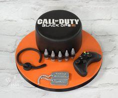 Call of Duty Black Ops Cake 30th Birthday Cake Topper, Birthday Cakes For Men, Black Ops Cake, Call Of Duty Cakes, Car Cakes For Men, Army Cake, Pan Relleno, Emoji Cake, Single Tier Cake