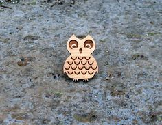 Laser cut owl bamboo ring