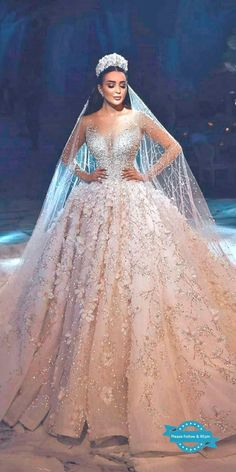 ball gown wedding dresses princess bling illusion sweetheart neck long sleeves georges hobeika princesse 30 Ball Gown Wedding Dresses Fit For A Queen Girls Bridesmaid Dresses, Princess Wedding Dresses, Bridal Dresses, Wedding Gowns, Tulle Wedding, Rustic Wedding Dresses, Princess Outfits, Peacock Wedding, Wedding Rustic