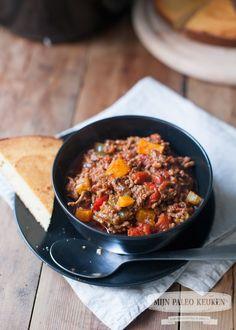 Paleo chili uit de Crock-Pot (met pompoen)