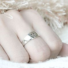 Cross Perforated Silver Ring Sterling Ring .925 Silver Ring Personalized Ring