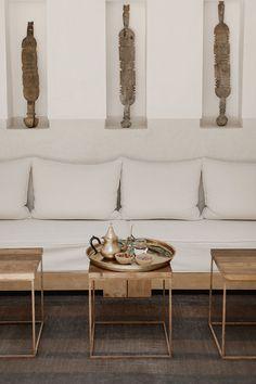 Holiday home of the week: a minimalist riad in Marrakech's Medina Minimalist Home Interior, Home Interior Design, Minimalist Apartment, Parisian Apartment, Apartment Layout, Apartment Interior, Apartment Living, Interior Styling, Moroccan Design
