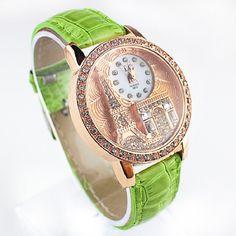 Paris Eiffel Tower Women Quartz Vintage Watch Women Girls Ladies Students chinoiserie Casual Wristwatch Women montre femme Gift. Starting at $1