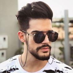Cool Hairstyles For Men, Mens Glasses, Glasses Case, Men Eyeglasses, Chains For Men, Stylish Men, Sunglasses Accessories, Eyewear, Round Sunglasses