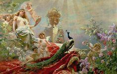 The Toilet Of Venus Painting by KE Makovsky