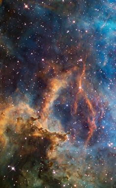 The Rosette Nebula (NGC 2237-9) close-up (Hubble palette) for AIC Credit: Bob Franke