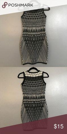 Black & white dress Great black & white dress. Worn once. WOW couture Dresses Mini