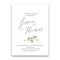 Image result for wedding invitations eucalyptus branch