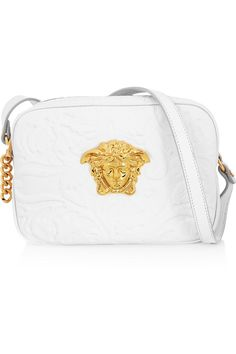 Versace | Embossed leather shoulder bag | NET-A-PORTER.COM