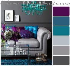 Colors  jewel tones with gray-I am in love with these colors for my bathroom