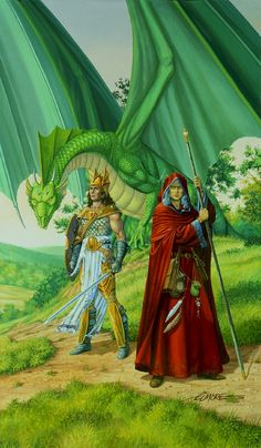 Dragonlance, Chronicles, Dragons of Spring Dawning by Larry Elmore.