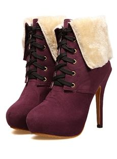 Polished Euramerican Sweet New Arrival High Heel Suede Boots