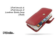 PDair iPod touch 6 / iPod touch 5 Leather Book Case (Red)