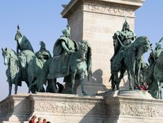 Popular and widespread belief, that the Millenium Monument on the Heroe's Square of Budapest was built for the Millenium Celebrations in when Hungary celebrated the anniversary that its. Sculptures, Lion Sculpture, Budapest, Bugs, Statues, Art, Art Background, Beetles, Kunst