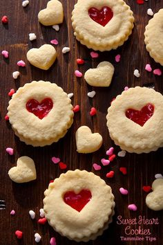 Super cute Sweet Heart Cookies Recipe for Valentine's Day! So easy to make and they taste great!