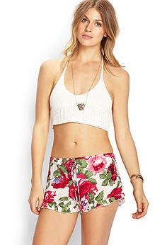 Floral Woven Ruffled Shorts | FOREVER 21 - 2000059698
