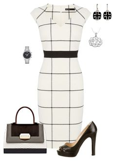 """""""Untitled #534"""" by angela-vitello on Polyvore featuring Karen Millen, Christian Louboutin, The Volon, Emporio Armani and LoveBrightJewelry"""