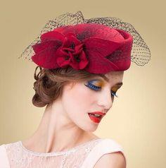 Elegant purple pillbox hat with veil bow fascinator hat  6b3fc184e5bb
