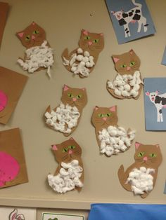 Meow!!!! pet week in classroom Cat craft