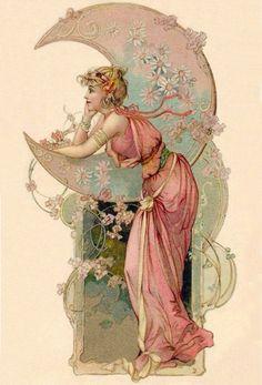 "vintagegal: "" Postcard c. 1900s """