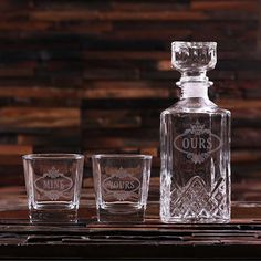 Decanter and Whiskey Glass Set Gift for Men by TealsPrairie