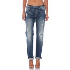 7 For All Mankind The 1984 Medium Destroy Boyfriend Denim (1.294.975 IDR) ❤ liked on Polyvore featuring jeans, destroyed denim jeans, boyfriend denim jeans, denim jeans, boyfriend fit jeans and ripped blue jeans