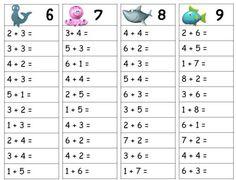Tables d'addition - Modern First Grade Math Worksheets, 1st Grade Math, Kindergarten Math, Teaching Math, Table Addition, Math Addition, Math For Kids, Fun Math, Math Resources