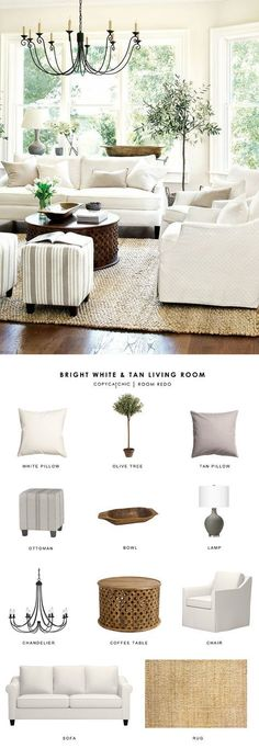 A white farmhouse living room gets recreated for less by copycatchic luxe living for less budget home decor and design