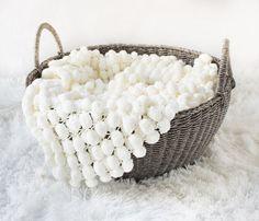 Mini cobertor pom pom texturizado mat tapete Prop / Prop recém-nascido cobertor foto Prop recém-nascido cobertor tapete pipoca balde cesta forro(China (Mainland))