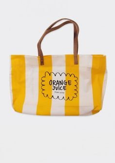 Tote Bag Canvas Orange Juice