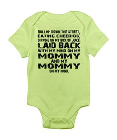 Show off bitty Baby's budding sense of humor with this cheeky bodysuit. The charming screen print is sure to inspire chuckles and coos, while soft jersey cotton swaddles little ones in sweet comfort. The lap neck and snaps along the bottom ensure easy changes.