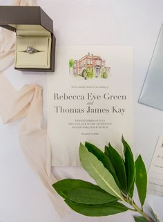 Personalised invites for your special day. including a hand-painted illustration of your wedding venue! Its one of our personal favourites! Available at The Little Paper Shop. Creative Studio, Wedding Stationery, Special Day, Wedding Venues, Reception, Place Card Holders, Hand Painted, Invitations, Paper