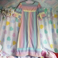 Depop is where the world's creatives come to buy, sell and discover the most inspiring and unique things. Boho Chic, Bohemian, Rainbow Pastel, House Dress, Nightgown, Vintage 70s, Picture Show, Striped Dress, Tie Dye