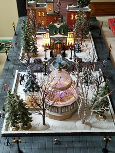 Christmas in the city 5th avenue and city park scene completed