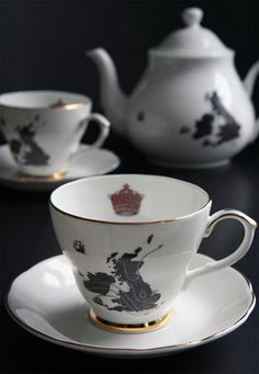 United Kingdom Tea Set by Ali Miller (seen on the BBC's 'Sherlock')