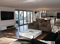 Open plan living spaces before and after | Refresh Renovations