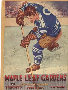 Signed Maple Leafs programme, no date.
