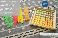 Muster aus Streifen, Original Froebel, Spiel für Kinder ab dem Kindergarten, vom Erfinder des Kindergartens, Friedrich Fröbel designt, Vorlage für Kinder