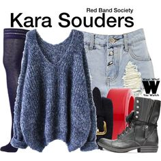 Zoe Levin as Kara Souders on Red Band Society. Fashion Tv, Daily Fashion, Fashion Outfits, Fall Outfits, Cute Outfits, Red Band Society, Other Outfits, Character Outfits, Polyvore Outfits