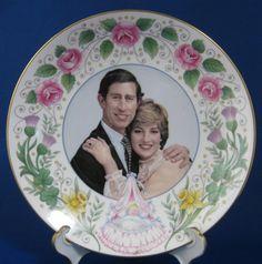Birth Of Prince William Plate 1982 Bone China Crown Staffordshire England #RoyalWedding #CharlesDiana #PrinceWilliamBirth #AntiquesAndTeacups