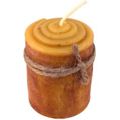 """Cinnamon Roll Beeswax Candle: Primitive Lights 4"""" 