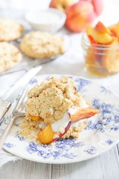 This paleo peach shortcake is a great way to celebrate ripe stone fruit this summer before it's gone. It's perfectly crumbly and just slightly sweet like the real deal – you'd never know it was paleo.