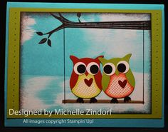 Stampin' Up! Owl Card – Tutorial 566 jan 18, 2013 Take Care, Owl Builder Punch by Michelle Zindorf