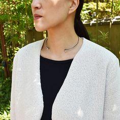 #pearl #topaz #oxidized #silver #choker #necklace by #beatrizpalacios